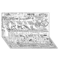 Panic At The Disco Lyrics Best Friends 3d Greeting Card (8x4)