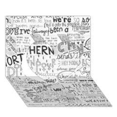 Panic At The Disco Lyrics Heart 3D Greeting Card (7x5)