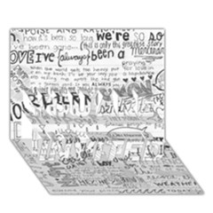 Panic At The Disco Lyrics You Are Invited 3d Greeting Card (7x5)