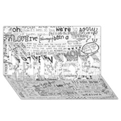 Panic At The Disco Lyrics #1 Mom 3d Greeting Cards (8x4)