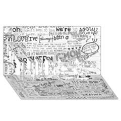 Panic At The Disco Lyrics HUGS 3D Greeting Card (8x4)
