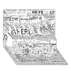 Panic At The Disco Lyrics Miss You 3D Greeting Card (7x5)