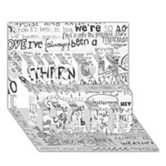 Panic At The Disco Lyrics WORK HARD 3D Greeting Card (7x5)