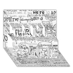 Panic At The Disco Lyrics Take Care 3d Greeting Card (7x5)