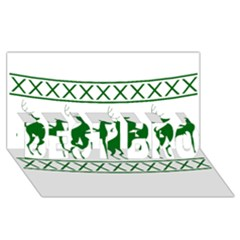 Humping Reindeer Ugly Christmas Best Bro 3d Greeting Card (8x4)