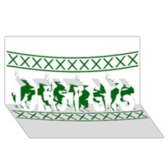 Humping Reindeer Ugly Christmas Best Sis 3d Greeting Card (8x4)