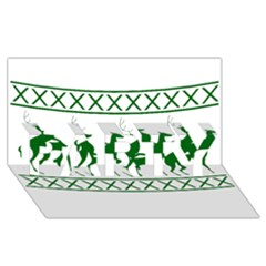 Humping Reindeer Ugly Christmas Party 3d Greeting Card (8x4)
