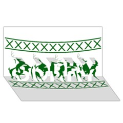 Humping Reindeer Ugly Christmas Sorry 3d Greeting Card (8x4)