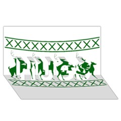Humping Reindeer Ugly Christmas Hugs 3d Greeting Card (8x4)