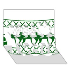 Humping Reindeer Ugly Christmas Miss You 3d Greeting Card (7x5)