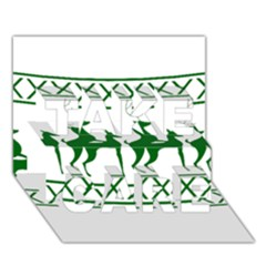 Humping Reindeer Ugly Christmas Take Care 3d Greeting Card (7x5)