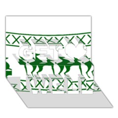 Humping Reindeer Ugly Christmas Get Well 3D Greeting Card (7x5)
