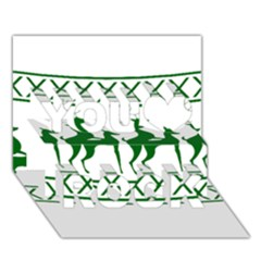 Humping Reindeer Ugly Christmas You Rock 3d Greeting Card (7x5)