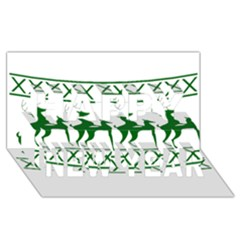 Humping Reindeer Ugly Christmas Happy New Year 3d Greeting Card (8x4)