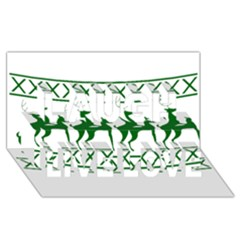 Humping Reindeer Ugly Christmas Laugh Live Love 3d Greeting Card (8x4)