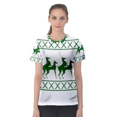 Humping Reindeer Ugly Christmas Women s Sport Mesh Tee