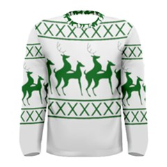 Humping Reindeer Ugly Christmas Men s Long Sleeve Tee