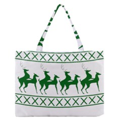 Humping Reindeer Ugly Christmas Medium Zipper Tote Bag