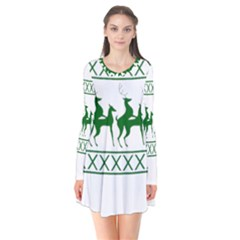 Humping Reindeer Ugly Christmas Flare Dress