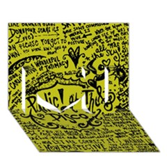 Panic! At The Disco Lyric Quotes I Love You 3D Greeting Card (7x5)