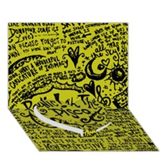 Panic! At The Disco Lyric Quotes Heart Bottom 3d Greeting Card (7x5)