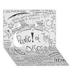Panic! At The Disco Lyrics Heart 3d Greeting Card (7x5)