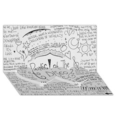 Panic! At The Disco Lyrics Twin Heart Bottom 3d Greeting Card (8x4)