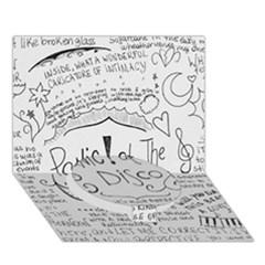 Panic! At The Disco Lyrics Circle Bottom 3d Greeting Card (7x5)