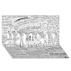 Panic! At The Disco Lyrics #1 Mom 3d Greeting Cards (8x4)