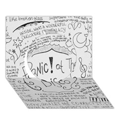 Panic! At The Disco Lyrics Circle 3D Greeting Card (7x5)