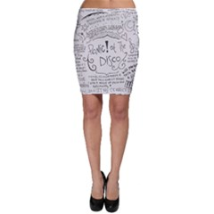 Panic! At The Disco Lyrics Bodycon Skirt