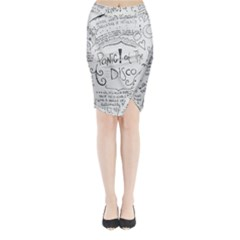Panic! At The Disco Lyrics Midi Wrap Pencil Skirt