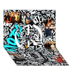 Panic! At The Disco College Peace Sign 3D Greeting Card (7x5)