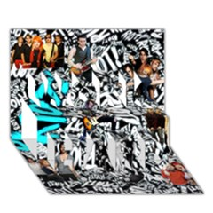 Panic! At The Disco College WORK HARD 3D Greeting Card (7x5)