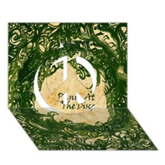 Panic At The Disco Peace Sign 3d Greeting Card (7x5)