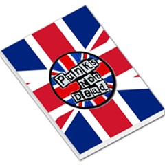 Punk Not Dead Music Rock Uk United Kingdom Flag Large Memo Pads