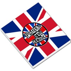 Punk Not Dead Music Rock Uk United Kingdom Flag Small Memo Pads