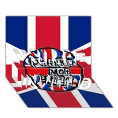 Punk Not Dead Music Rock Uk United Kingdom Flag YOU ARE INVITED 3D Greeting Card (7x5)