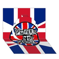 Punk Not Dead Music Rock Uk United Kingdom Flag Circle 3d Greeting Card (7x5)