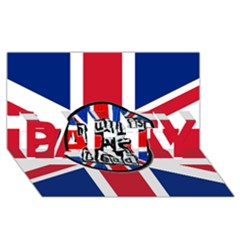Punk Not Dead Music Rock Uk United Kingdom Flag Party 3d Greeting Card (8x4)