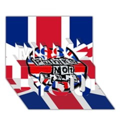 Punk Not Dead Music Rock Uk United Kingdom Flag Miss You 3d Greeting Card (7x5)