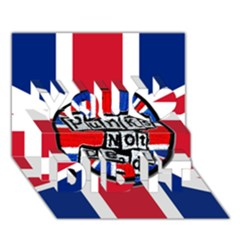 Punk Not Dead Music Rock Uk United Kingdom Flag You Did It 3d Greeting Card (7x5)