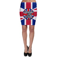 Punk Not Dead Music Rock Uk United Kingdom Flag Bodycon Skirt