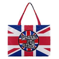 Punk Not Dead Music Rock Uk United Kingdom Flag Medium Tote Bag
