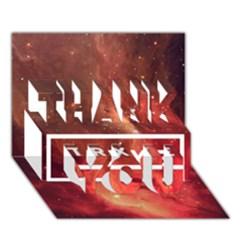 Trxye Galaxy Nebula Thank You 3d Greeting Card (7x5)