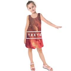 Trxye Galaxy Nebula Kids  Sleeveless Dress