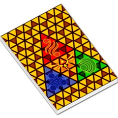 The Triforce Stained Glass Large Memo Pads