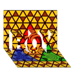 The Triforce Stained Glass BOY 3D Greeting Card (7x5)