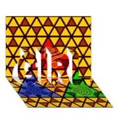 The Triforce Stained Glass GIRL 3D Greeting Card (7x5)