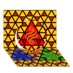 The Triforce Stained Glass Circle 3d Greeting Card (7x5)